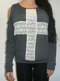 Lace Sweater Cross