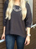 Charcoal Ladder Back Sweater