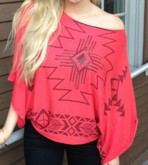 Red Tribal Sweater