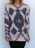 Tribal Boat Neck Sweater