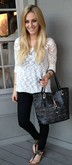Lace Sleeve Sweater White