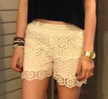 Lace Shorts Cream