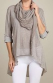 Taupe Beauty Top