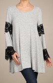Grey Tunic with Lace Panels