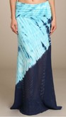 Blue Two Tone Maxi Skirt