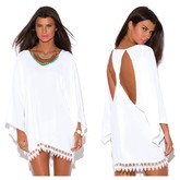 White Crochet Cutout Dress