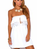 White Vixen Strapless Dress