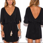 Black Tassel Dress