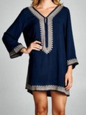 Navy & Taupe Dress