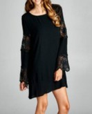 Black Dress with Lace Panels