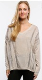 Tan Long Sleeve with Lace Panels