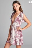 Tie Dye Wrap Dress